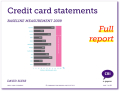 Credit Card Statements: full report