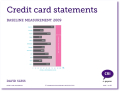 Credit card statements baseline measurement 2009 - full report