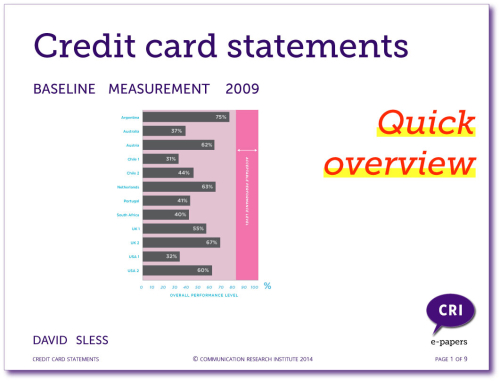 Credit Card Statements: quick overview