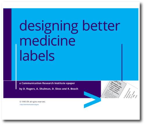 Designing better medicine labelling